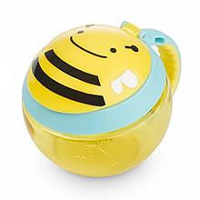 Skip hop Контейнер-чашка для снеков Пчелка zoo snack cup Brooklyn Bee