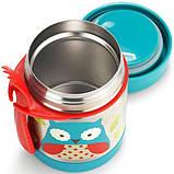 Skip Hop Детский термос кружка для еды Сова Zoo insulated food Jar Owl, фото 2