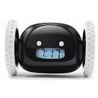 Убегающий будильник на колесах Alarm Clock ORIGINAL Черный Оригинал