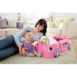 Fisher-Price Смейся и учись развивающий центр, машинка, сортер Laugh Learn Smart Stages Crawl Around Car Pink, фото 3