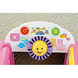 Fisher-Price Смейся и учись развивающий центр, машинка, сортер Laugh Learn Smart Stages Crawl Around Car Pink, фото 7