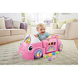 Fisher-Price Смейся и учись развивающий центр, машинка, сортер Laugh Learn Smart Stages Crawl Around Car Pink, фото 9