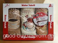 Комплект полотенец Ikizler Tekstil махра  3шт 40х60 Турция  pr-134