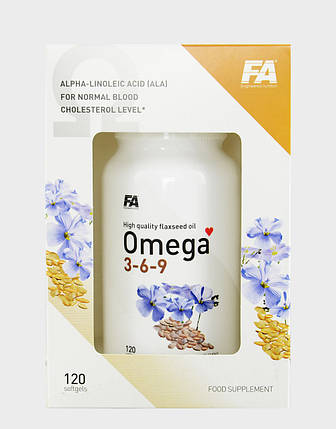 Omega 3-6-9 120 soft gels Fitness Authority, фото 2