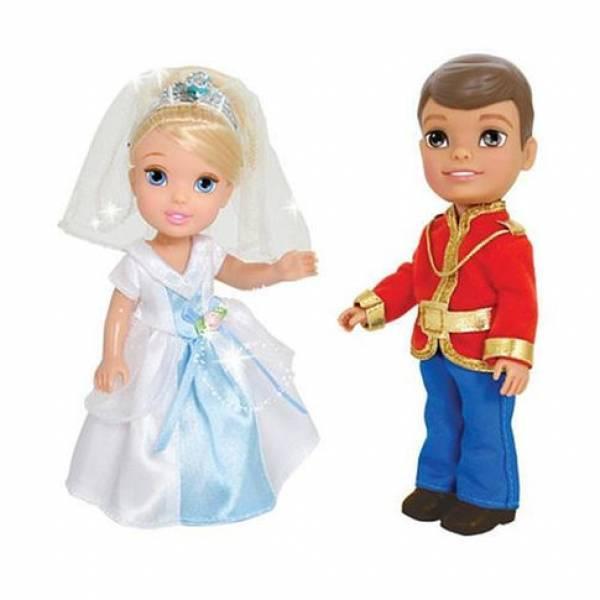 Disney Набор Золушка и принц Чарминг Toddler Prince Princess Prince Charming and Cinderella 6 inch