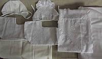 Набор комплект для крещения. Уголок, пеленка, распашенка, чепчик, фото 1