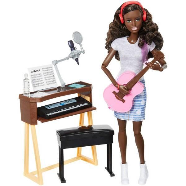 Barbie Барби с гитарой и пианино афроамериканка FCP74 Girls Music Activity Playset