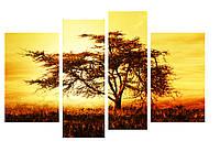 Модульная картина Декор Карпаты 110х70 см Дерево M4-p18, КОД: 184383