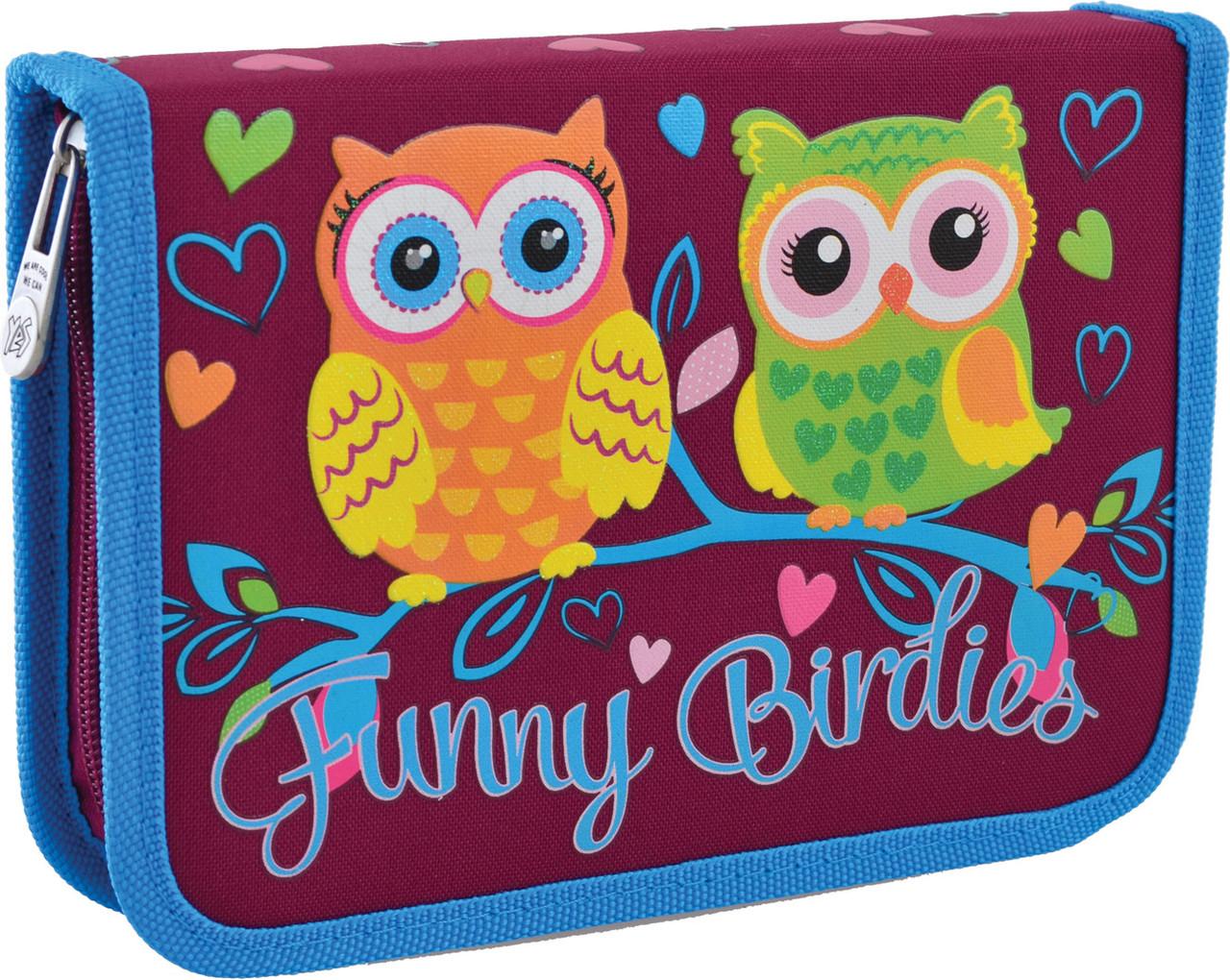Пенал твердый YES  одинарный с клапаном HP-03 Funny Birdies      код: 532156