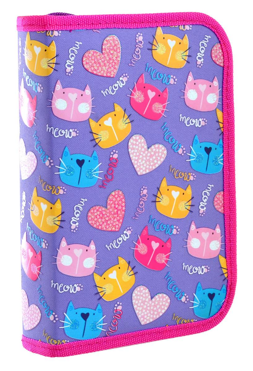 Пенал твердый YES одинарный с двумя клапанами HP-04 Loving Cats код: 532556