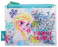 Пенал-косметичка YES с блестками Frozen код: 532634