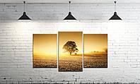 Модульная картина на холсте DK Store из трех частей Дерево жизни SM3-t34, КОД: 1223214