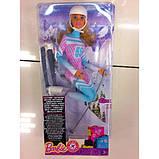 Barbie Барби йога лыжница FDR57 Skier Doll Pink Passport Made to Move, фото 9