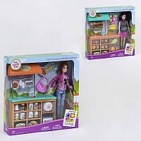 """Кукла JX 200-67/JX 200-69 (24/2) """"Магазин"""", 2 вида, прилавок, продукты, аксессуары, в коробке"""