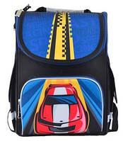 Рюкзак школьный ортопедический каркасный Smart PG-11 Car, 34*26*14 код: 554545, фото 5