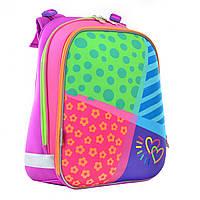 Рюкзак школьный каркасный ортопедический 1 Вересня H-12 Bright colors, 38*29*15   код: 554581