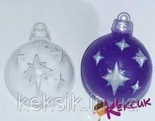Пластиковый молд для шоколада Елочный шарик звезды