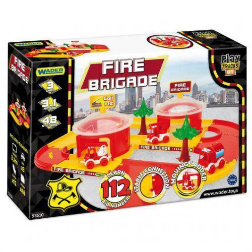 """Пластиковый трек """"Play Tracks City: Пожарная станция"""" 31 м 7Toys 53510 ( TC113058)"""
