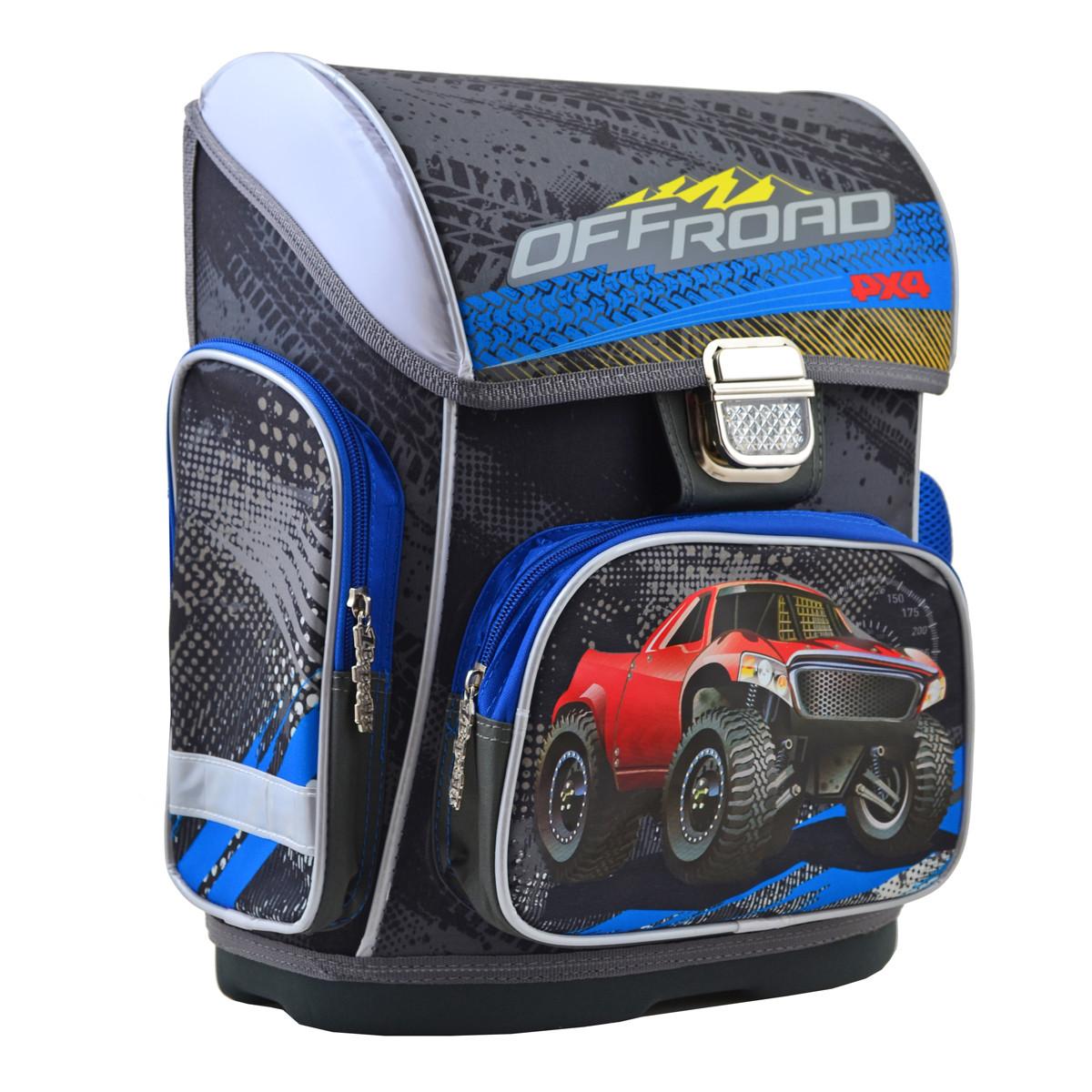 Рюкзак школьный ортопедический каркасный 1 Вересня H-26 Off-Road, 40*30*16 код: 555088