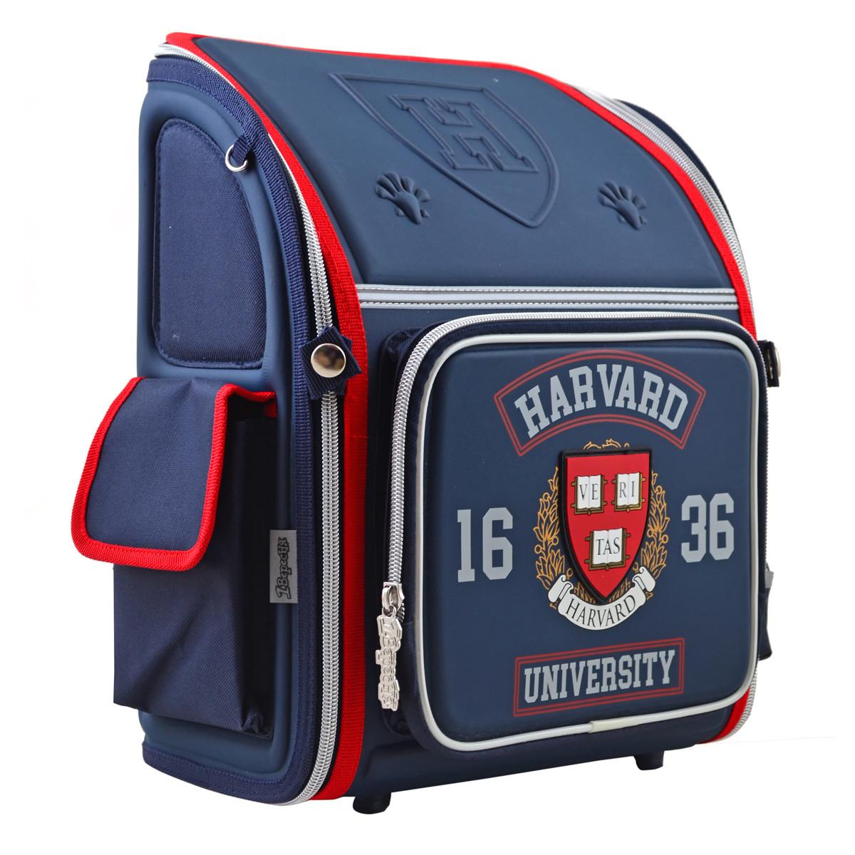 Рюкзак школьный ортопедический каркасный 1 Вересня H-18 Harvard, 35*28*14.5 код: 555108