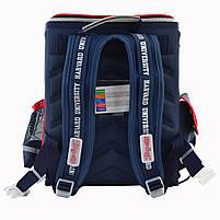 Рюкзак школьный ортопедический каркасный 1 Вересня H-18 Harvard, 35*28*14.5 код: 555108, фото 3
