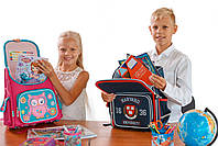 Рюкзак школьный ортопедический каркасный 1 Вересня H-18 Harvard, 35*28*14.5 код: 555108, фото 5