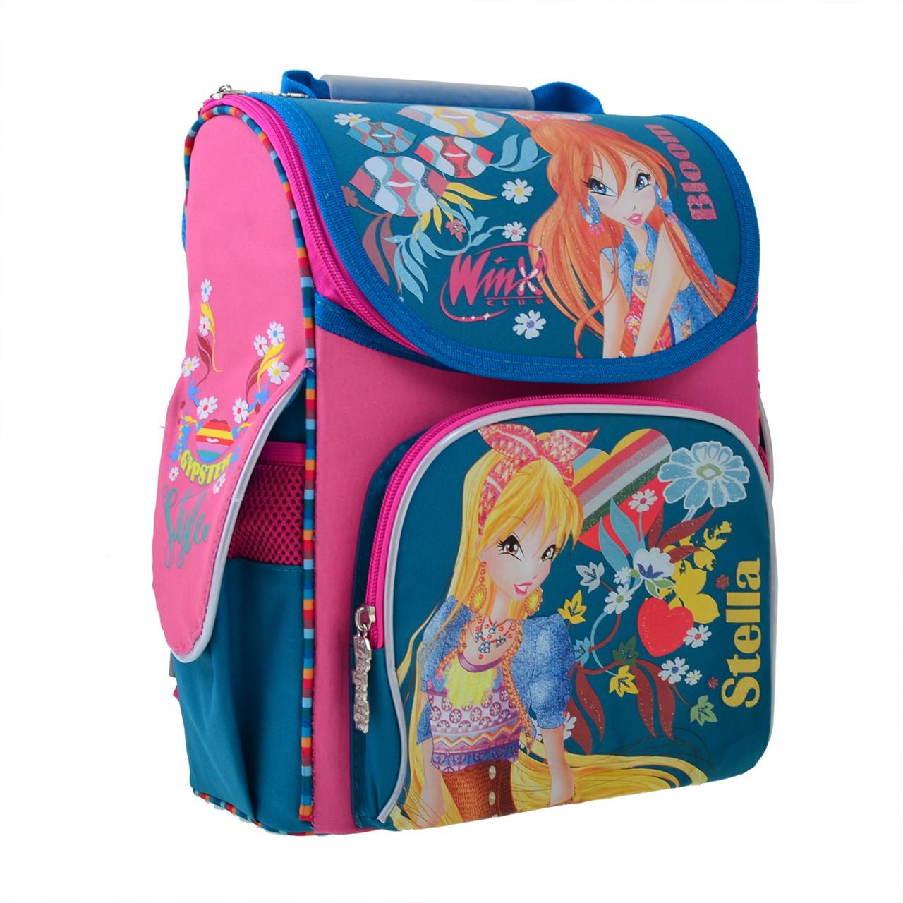 Рюкзак школьный каркасный 1 Вересня H-11 Winx mint, 33.5*26*13.5 код: 555188