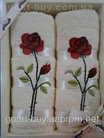 Комплект полотенец Febo роза махра - 2 лицо Турция t60 -1