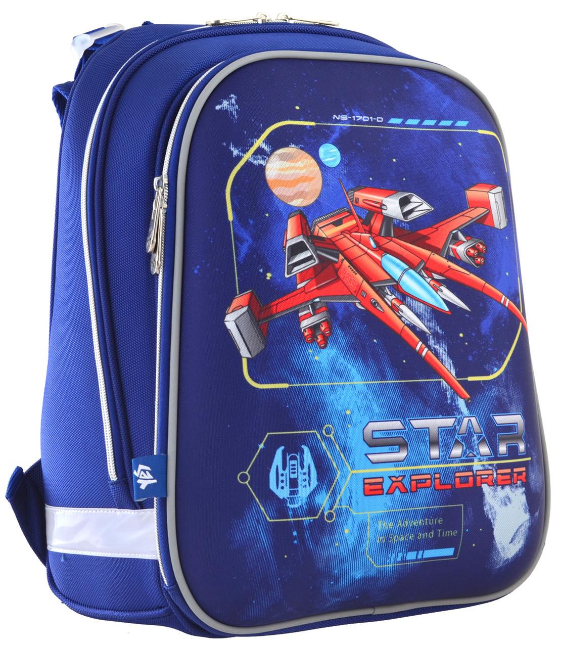 Рюкзак школьный ортопедический каркасный 1 Вересня H-12 Star Explorer код: 555960