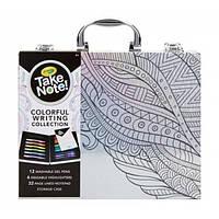 Crayola Подарочный набор с гелевыми ручками, хайлайтерами и блокнотом в чемоданчике Take Note! Colorful Writing Collection