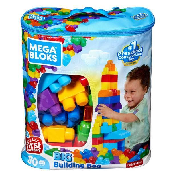 Mega Bloks First Builders Конструктор классический в сумке 80 деталей 80-Piece Big Building Bag Classic