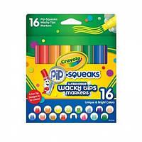 Crayola Смываемые фломастеры 16 шт с узорными наконечниками Pip Squeaks Washable Markers with Wacky Tips 16 Count