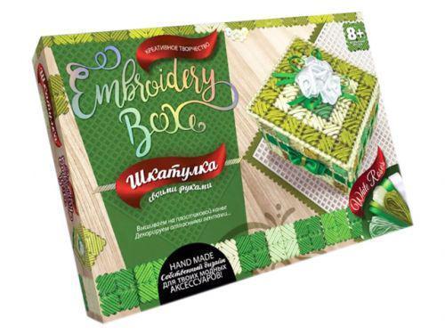"Набор для творчества ""Шкатулка Embroidery Box: White Roses"" Danko Toys EMB-01-04 ( TC101210)"