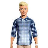 Barbie Кен Модник синяя рубашка в клетку и шорты FNH39 DWK44 Ken Fashionistas Preppy Check Doll, фото 2