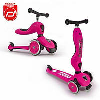 Scoot and Ride Highwaykick 1 Самокат-беговел 2 в 1 розовый Scooter and Ride On Toy pink