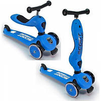 Scoot and Ride Highwaykick 1 Самокат-беговел 2 в 1 синий Scooter and Ride On Toy blue