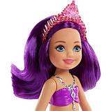 Barbie Барби Дримпопия Челси русалка Драгоценных гор FKN06 Dreamtopia Sparkle Mountain Mermaid Doll, фото 4