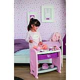 Smoby Кровать для куклы пупса с полкой и съемным столиком Прованс 220353 Baby Nurse provans, фото 2