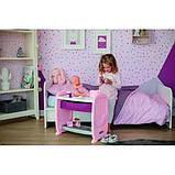 Smoby Кровать для куклы пупса с полкой и съемным столиком Прованс 220353 Baby Nurse provans, фото 3