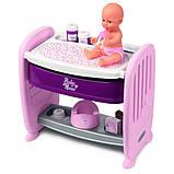Smoby Кровать для куклы пупса с полкой и съемным столиком Прованс 220353 Baby Nurse provans, фото 6