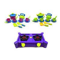 """Набор посуды """"Кухня Ева"""" (с фиолетовой плитой) Kinderway 04-414 ( TC103642)"""