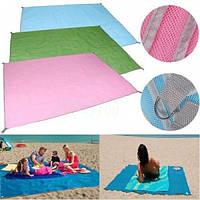 Коврик подстилка для пикника или моря АНТИ-ПЕСОК Sand Free Mat 200x200 мм Розовый ORIGINAL (IM 46596) Оригинал