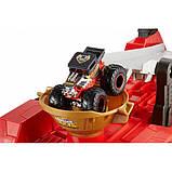 Hot Wheels Monster Trucks Передвижной трамплин GFR15 Downhill Race Go Playset, фото 4