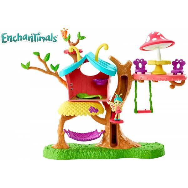 Enchantimals Домик бабочек и Бакси бабочка GBX08 Butterfly Clubhouse Playset with Baxi Butterfly Doll