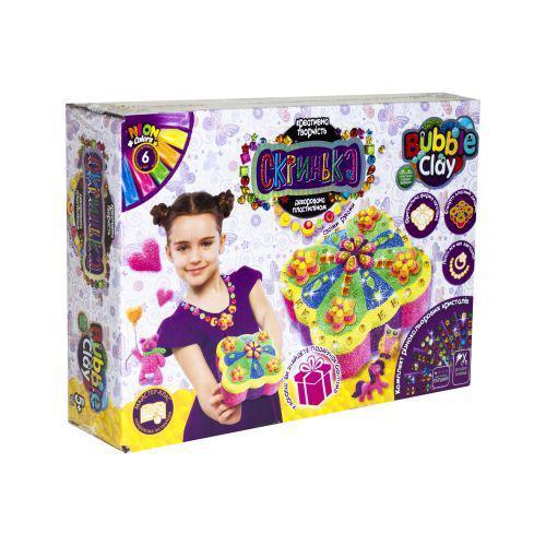 "Набор креативного творчества ""Шкатулка Bubble Clay"" (укр) Danko Toys SHBC-01-01U ( TC59792)"