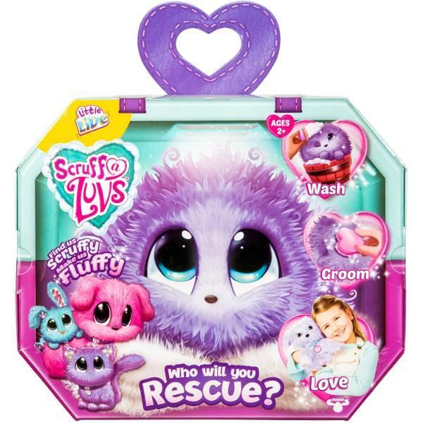Little Live Питомец сюрприз няшка потеряшка фиолетовые Scruff-a-Luvs plush mystery rescue pet