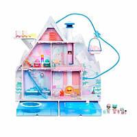 L.O.L Surprise! S6 Зимнее диско Домик шале для кукол зимний дом 562207 Winter Disco Chalet Doll House with 95+ Surprises