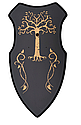 Меч копия андурил или нарсил из Властелина колец сабля + щит панно подставка с рисунком для коллекции, фото 3