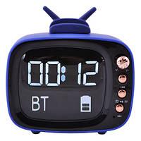 Колонка Bluetooth E29 с датой в виде телевизора + подставка под телефон, радио,качественный звук