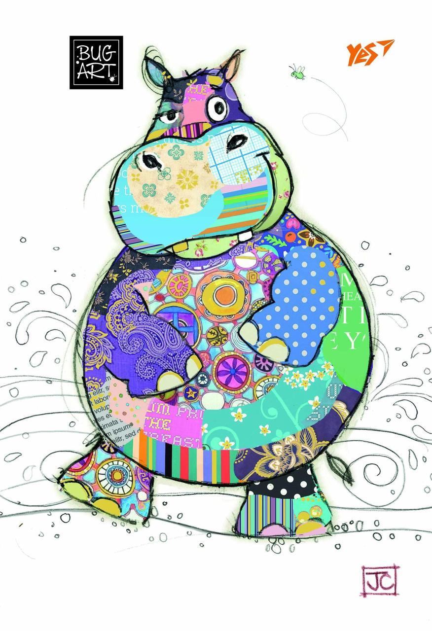 Тетрадь В6/144 пл.обл. BugArt. White hippo YES код: 681305